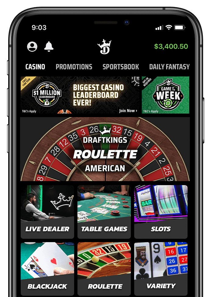 DraftKings App on Iphone